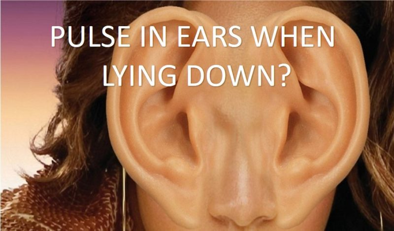 Pulsatile tinnitus when lying down